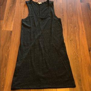 James Perse sleeveless dress dark heather grey New